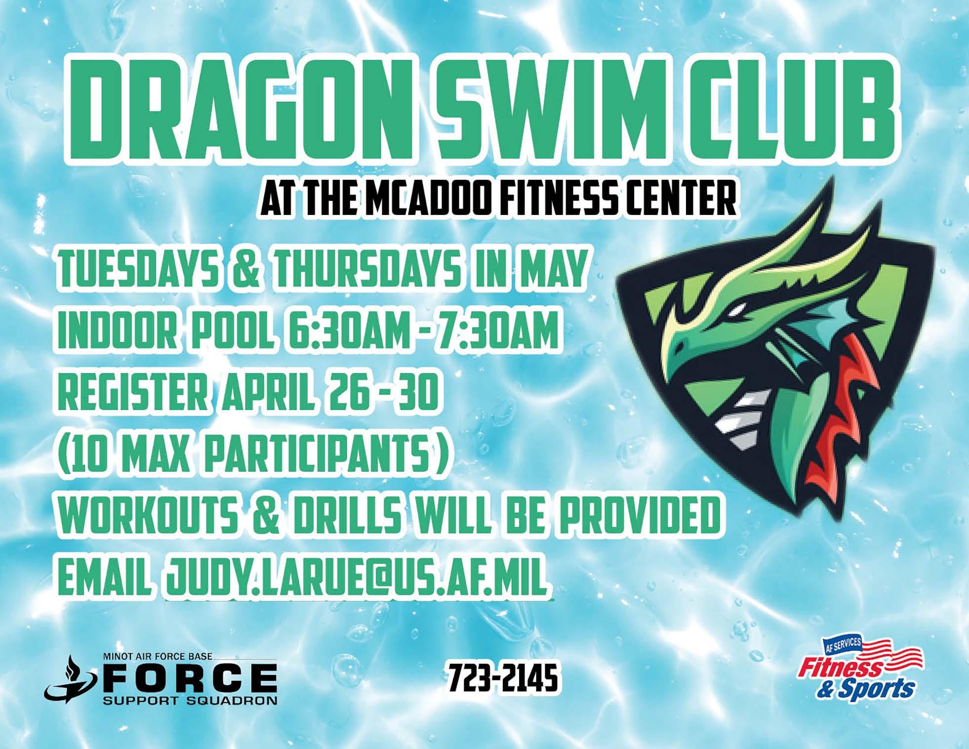 Registration Begins: Dragon Swim Club