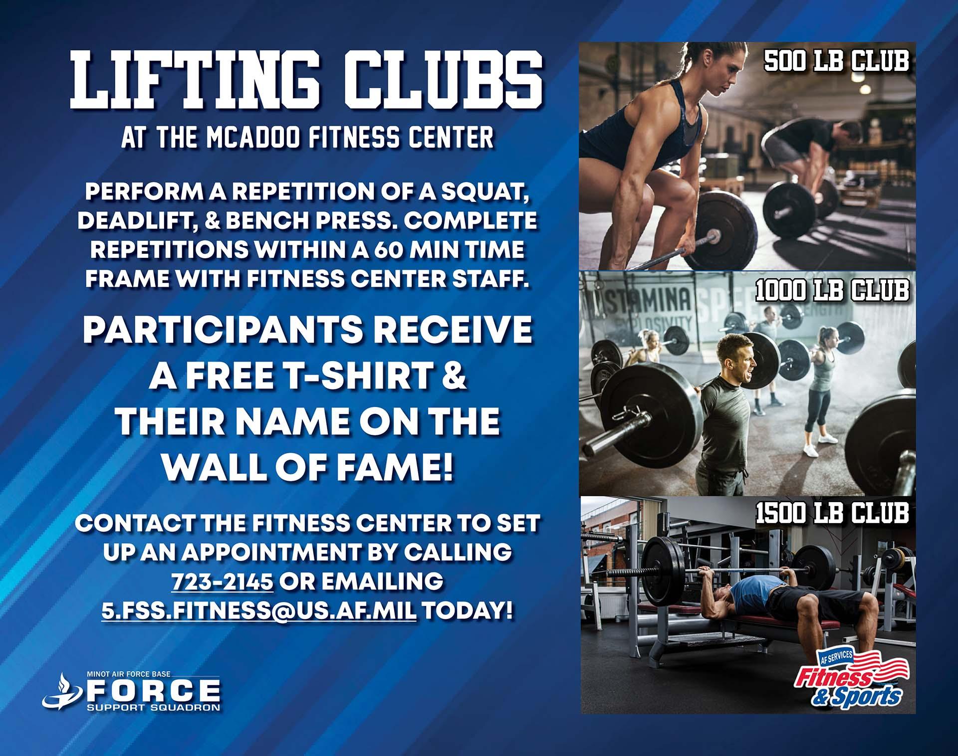 Fitness - 1000lb Club - April 21