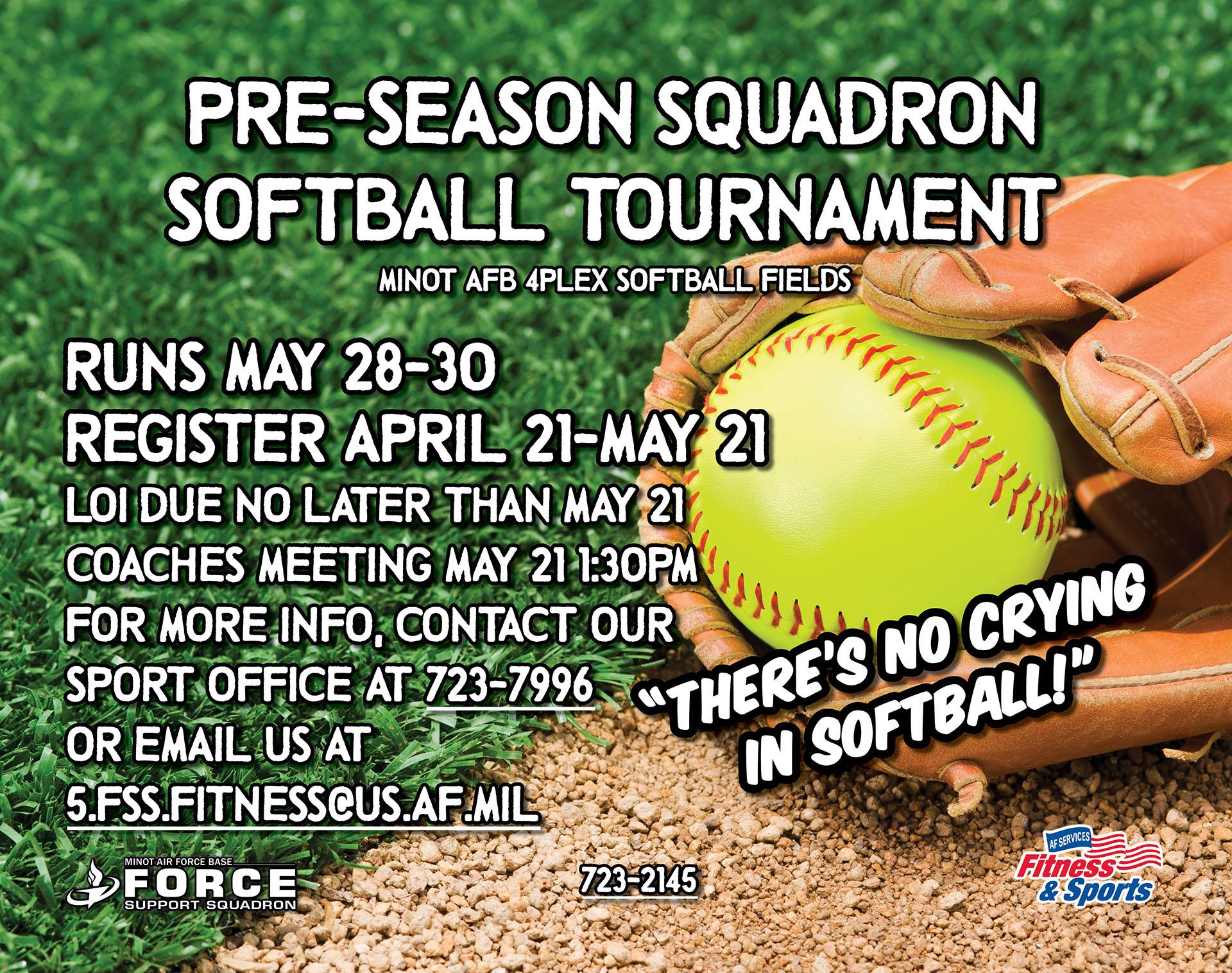 Pre-Season Squadron Softball Tournament