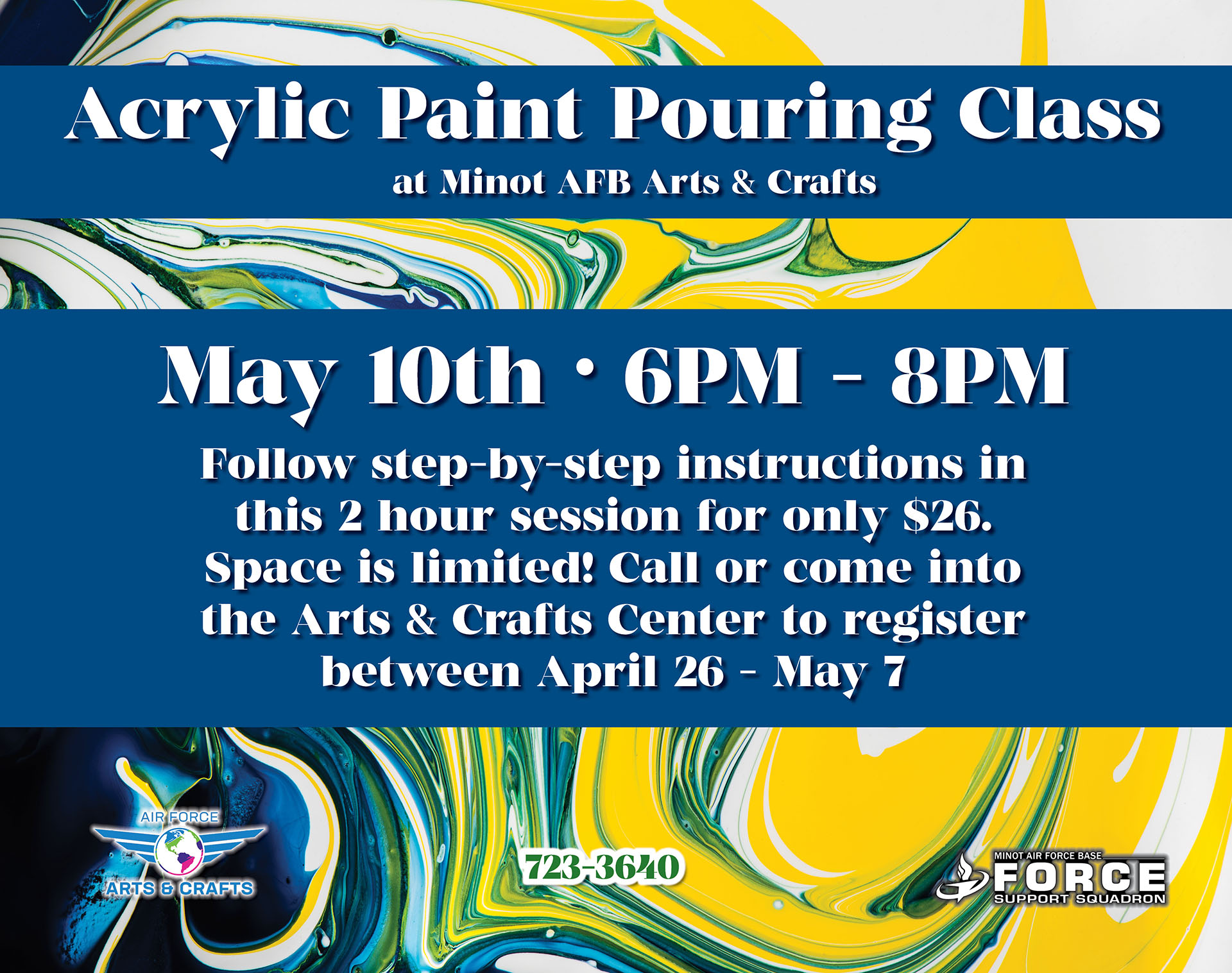 Registration Begins: Acrylic Paint Pouring