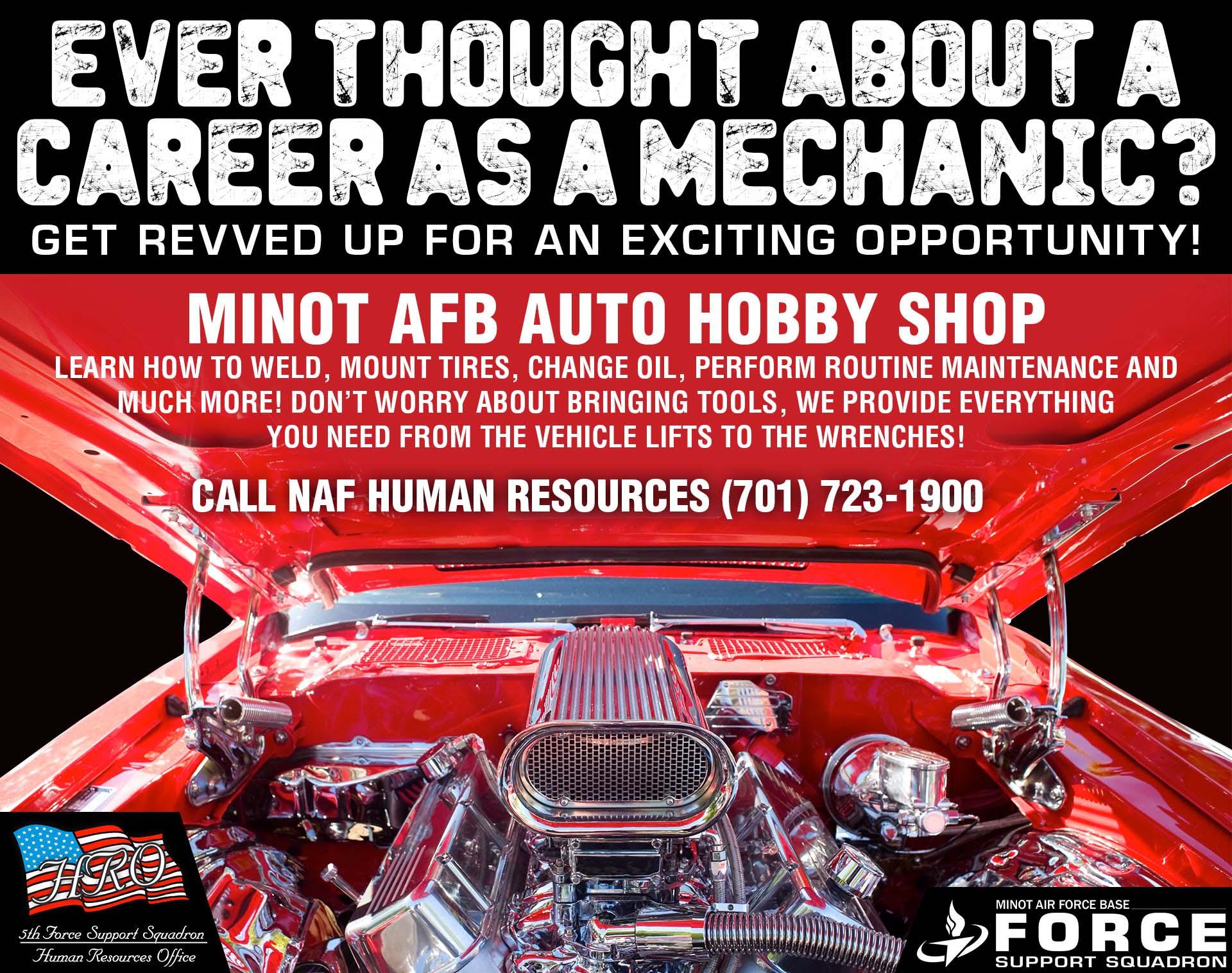 NAF HR - Now Hiring - Auto Hobby