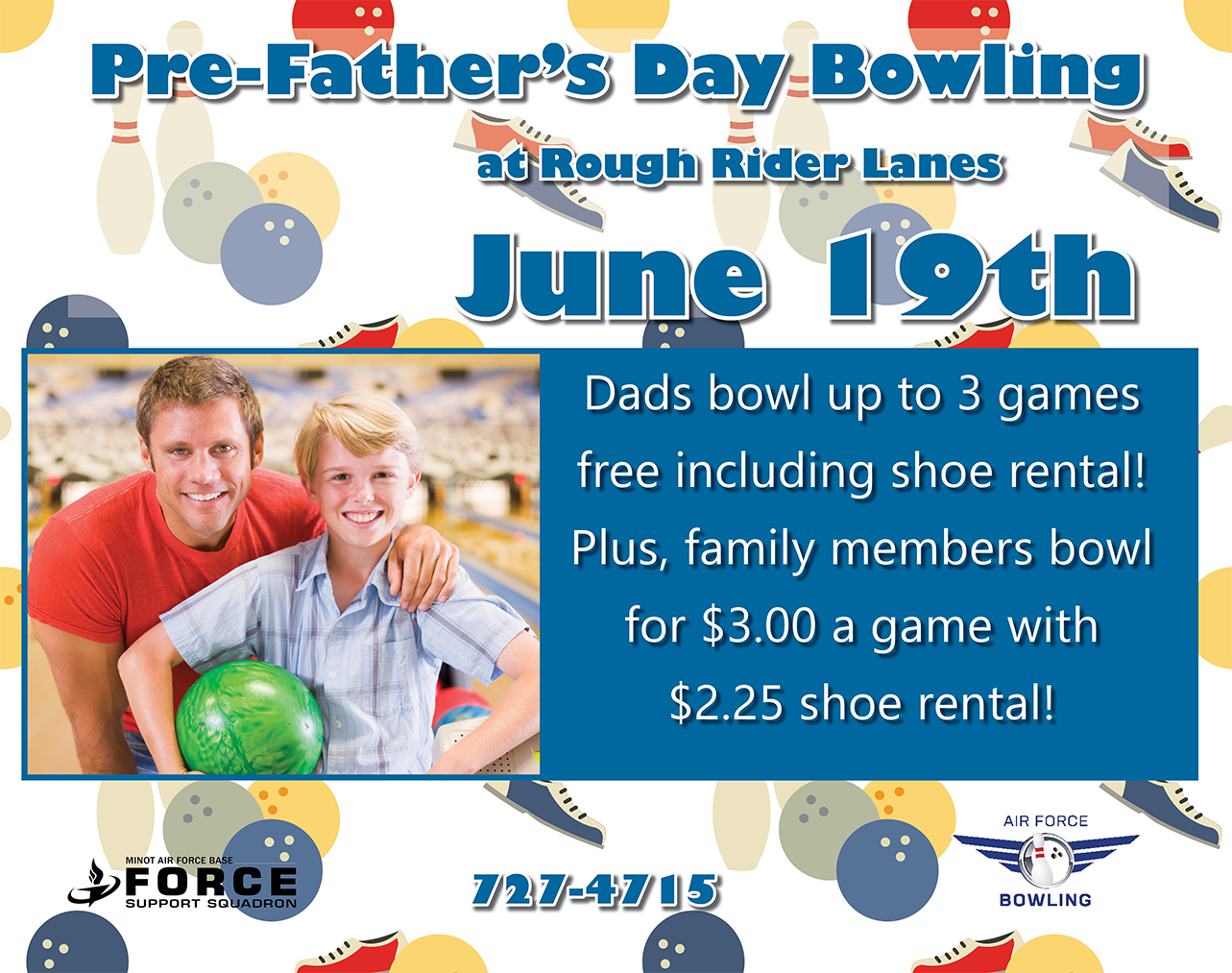 Pre-Father's Day Bowling Special