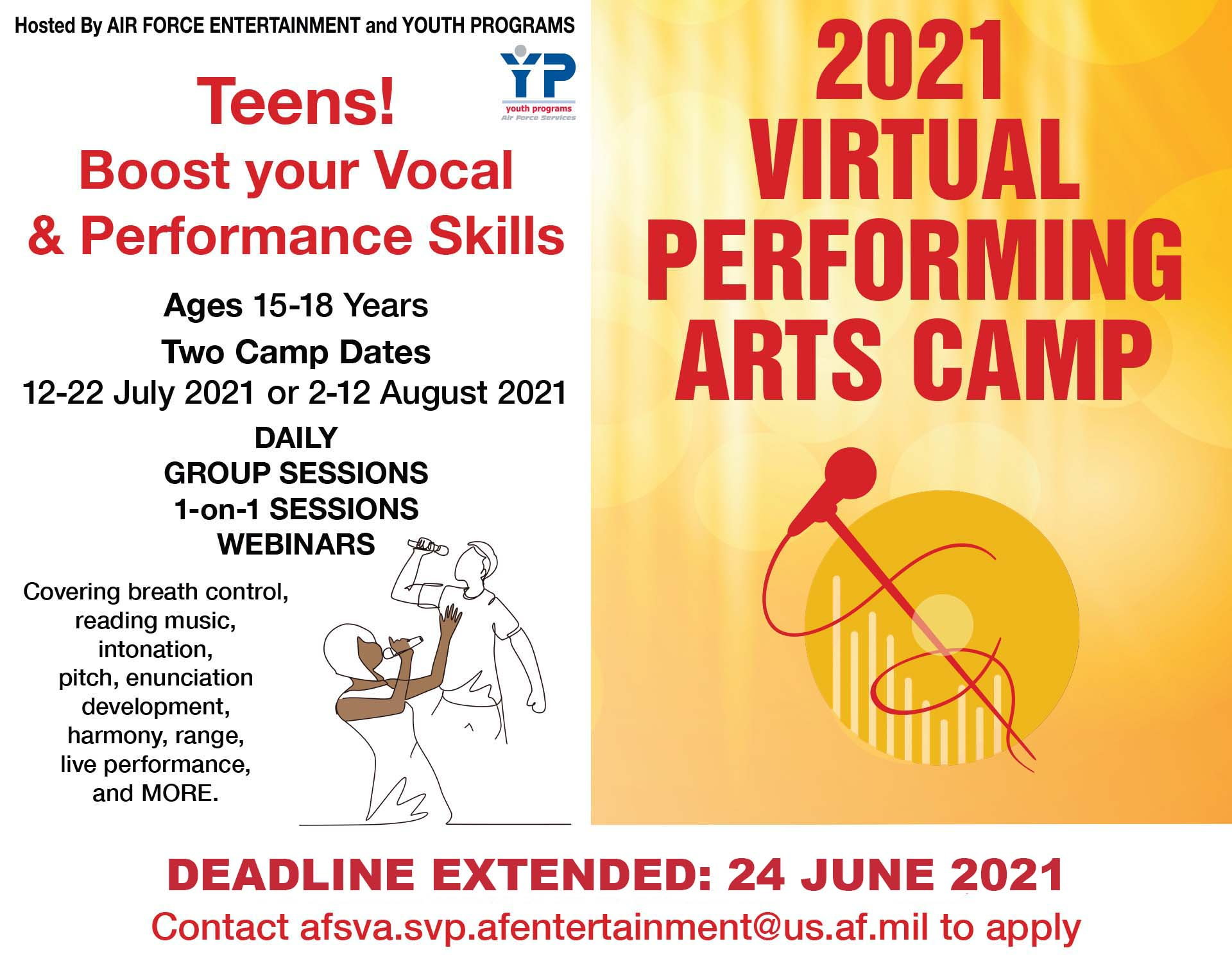 Registration Closes: Virtual Performing Arts Camp