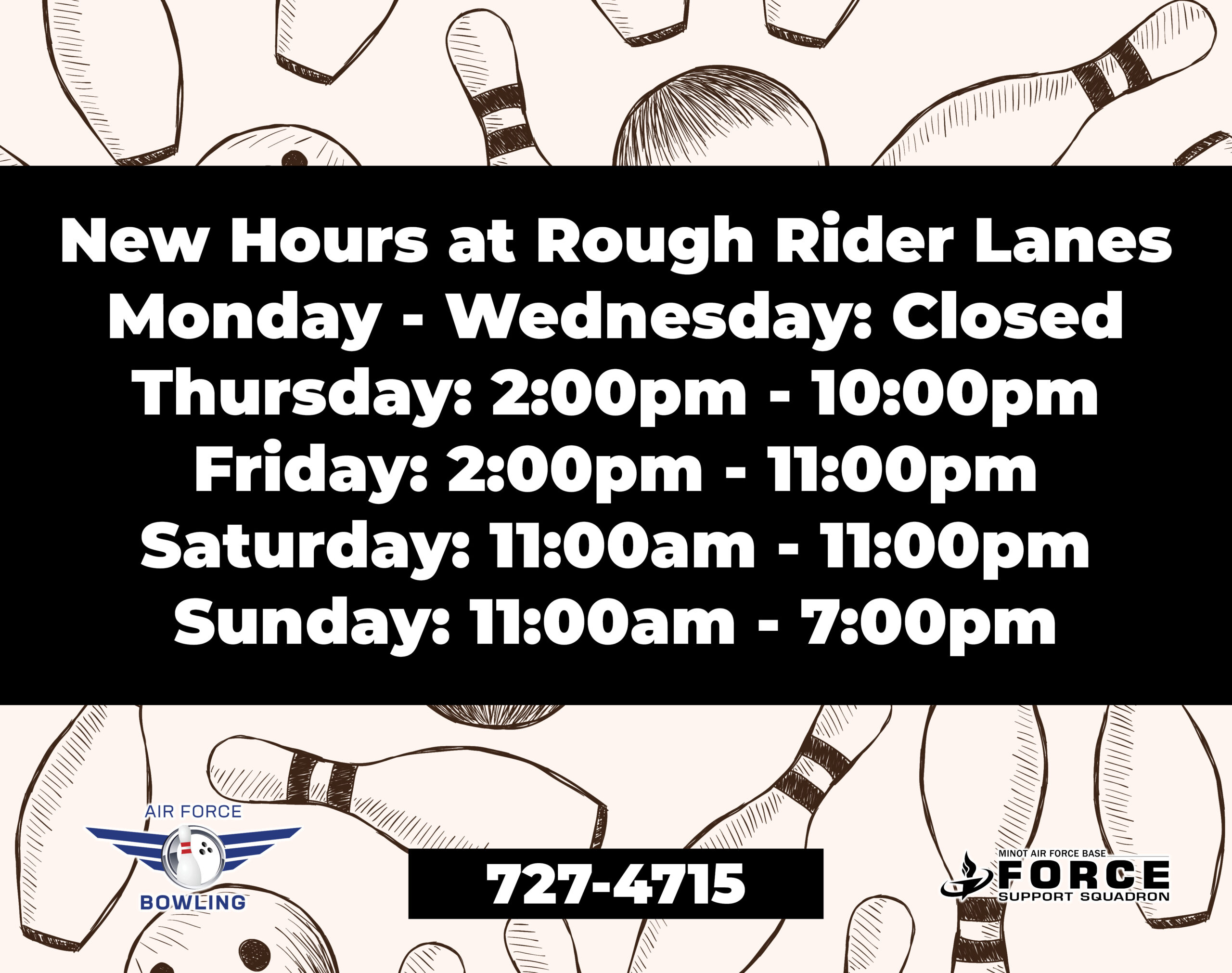 Bowl Hours Change- May 21