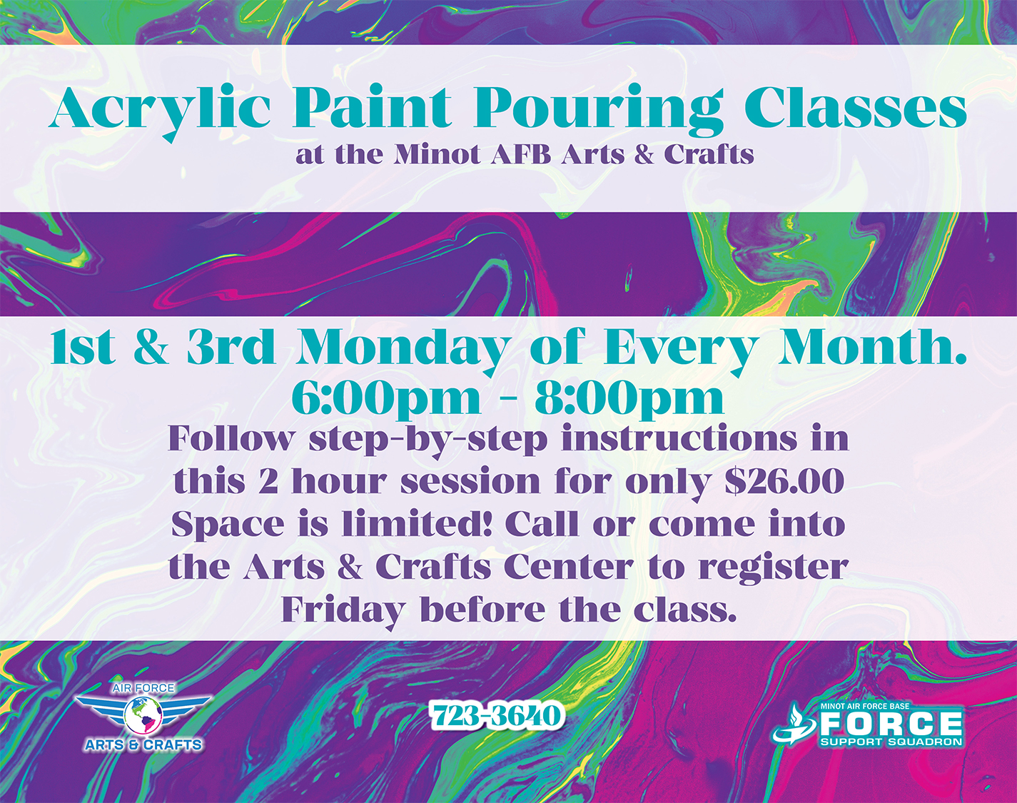 Registration Ends: Acrylic Paint Pouring