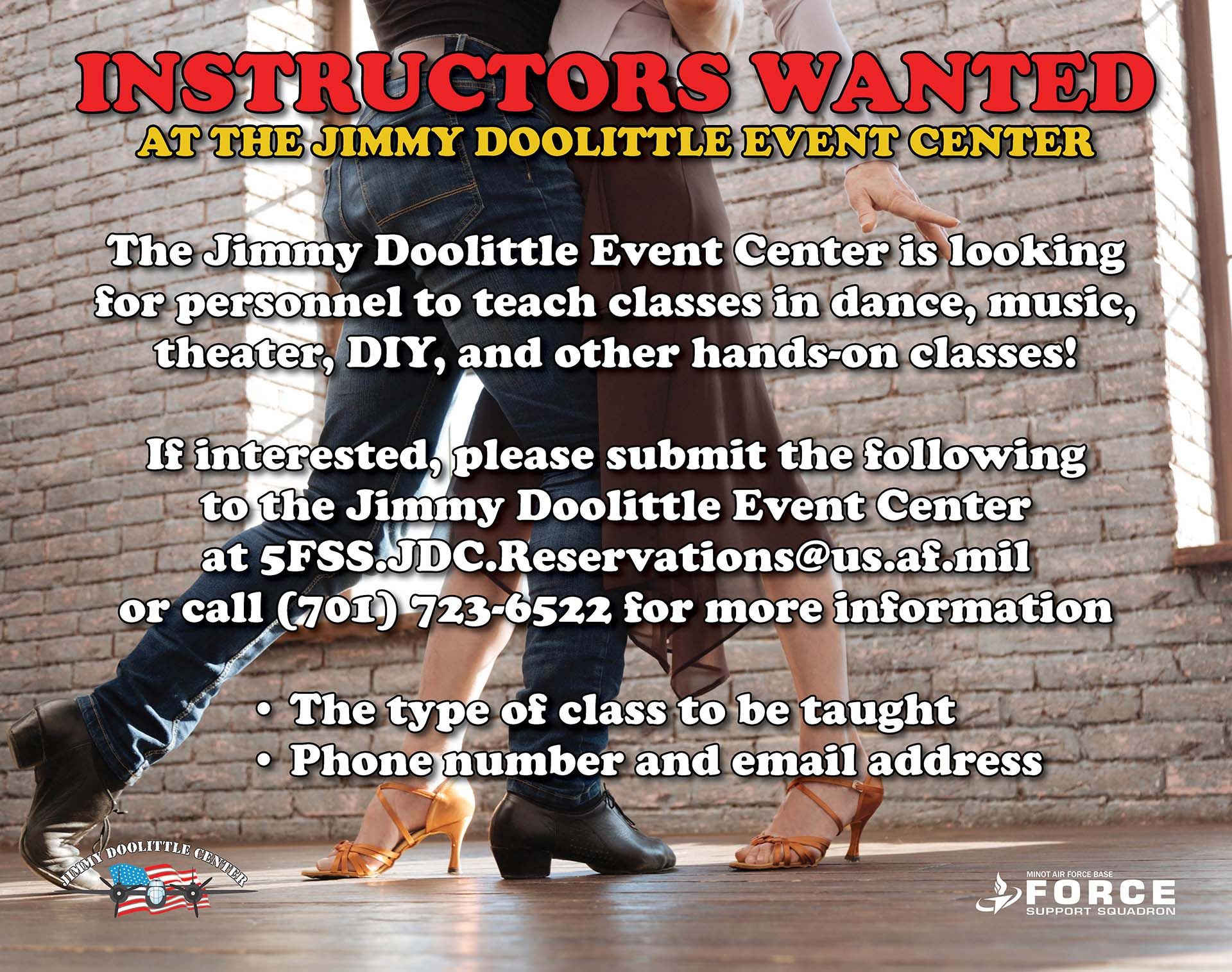 JDC - Instructors Wanted
