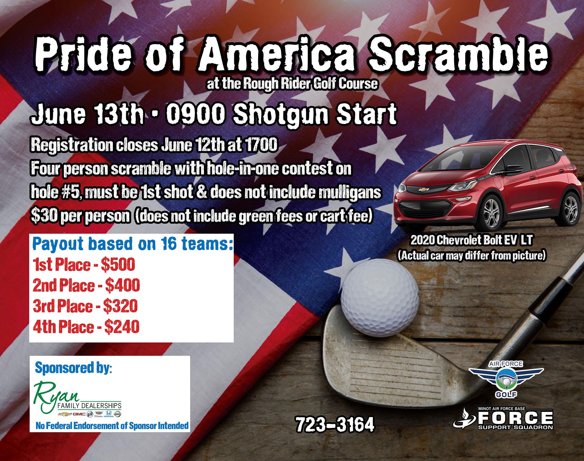 Registration Ends: Pride of America Golf Scramble