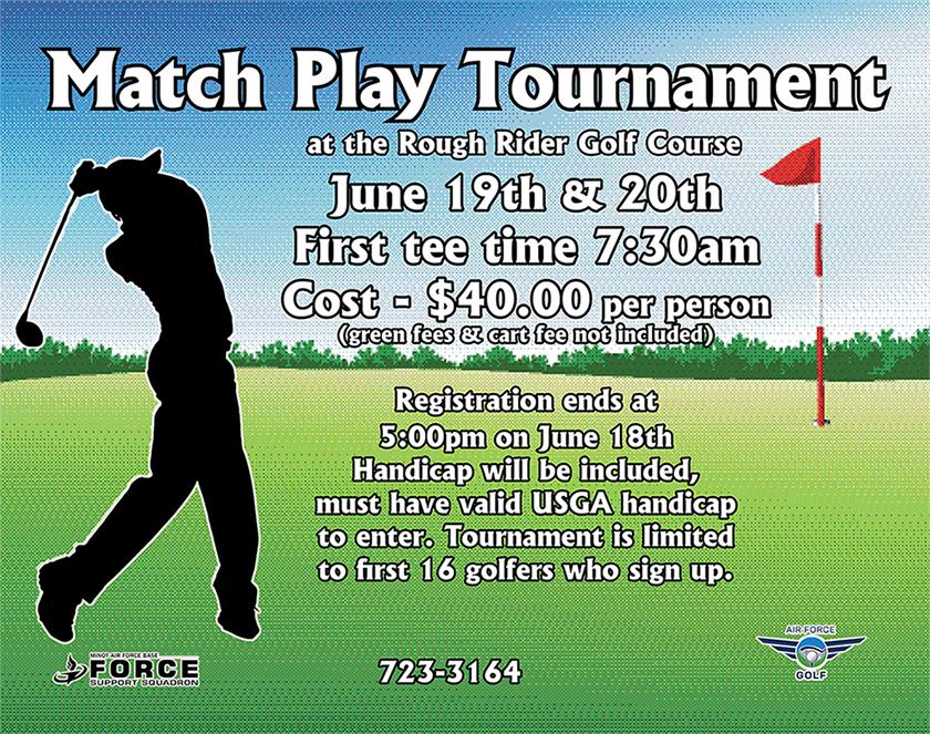 Registration Ends: Match Play Tournament