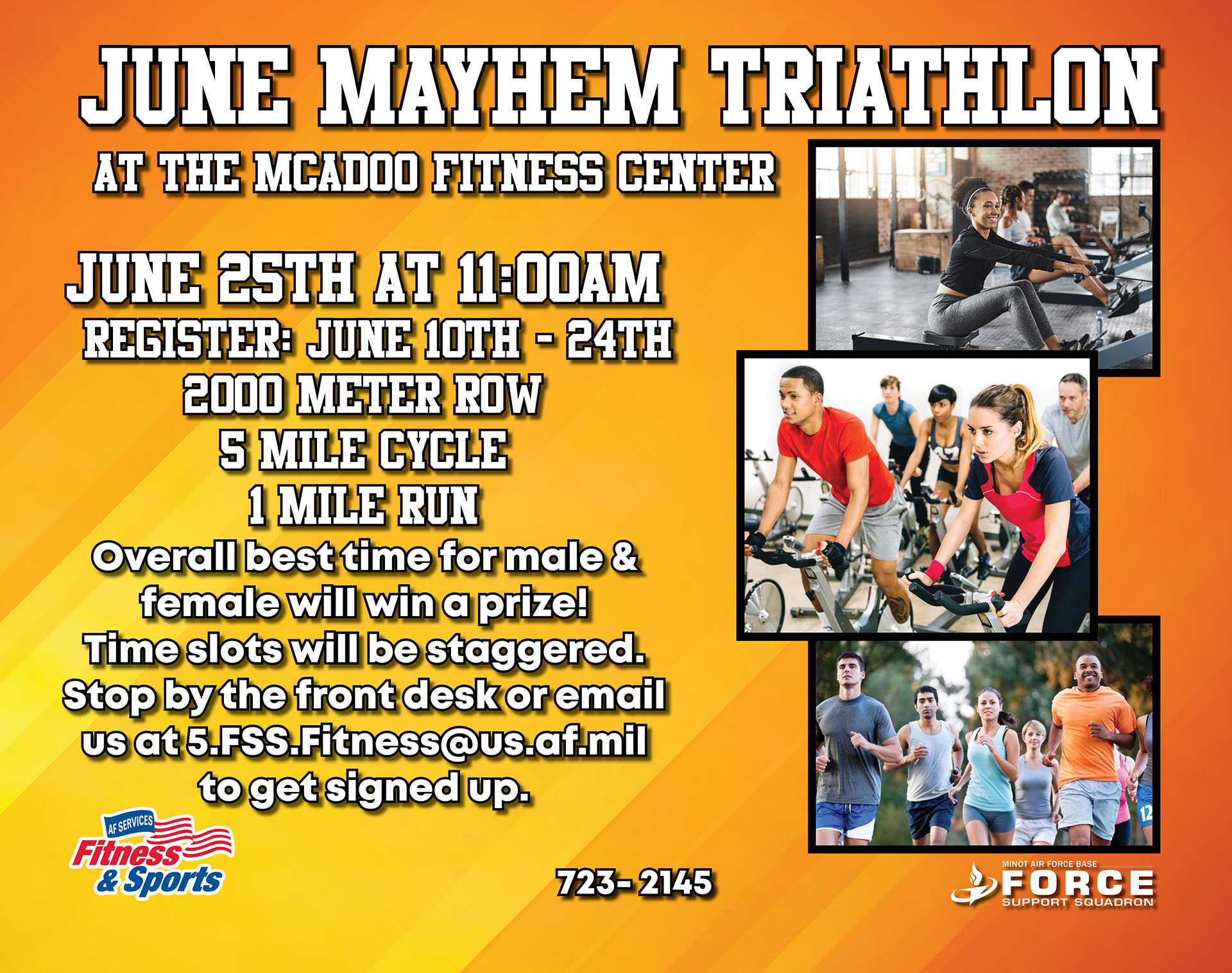 Registration Ends: Triathlon