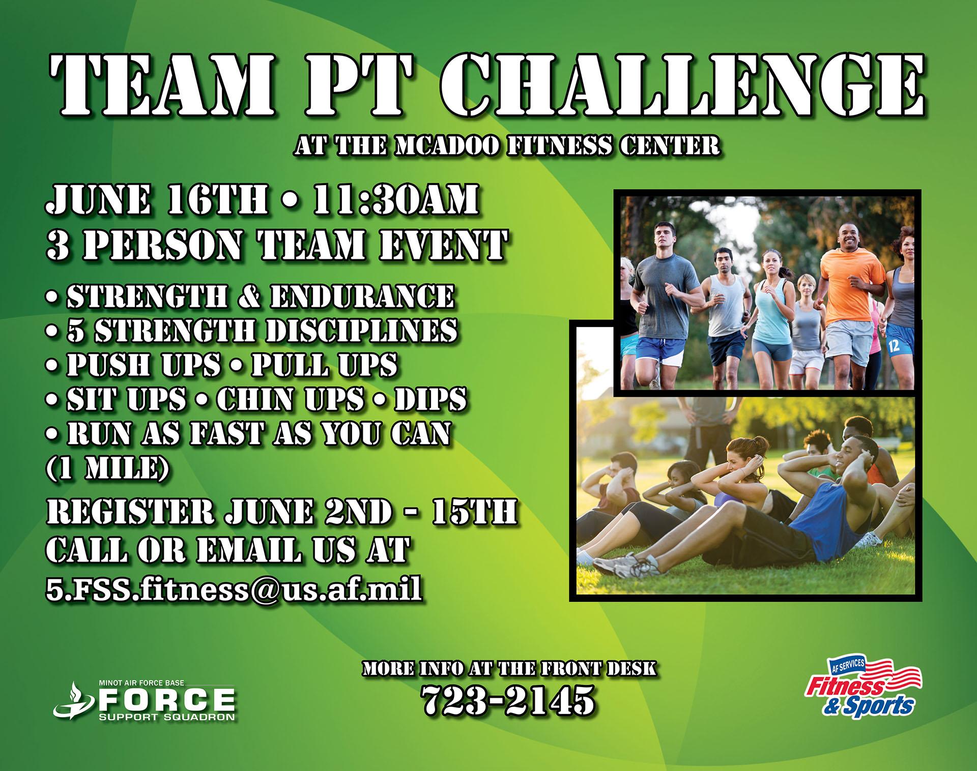 Registration Begins: Team PT Challenge