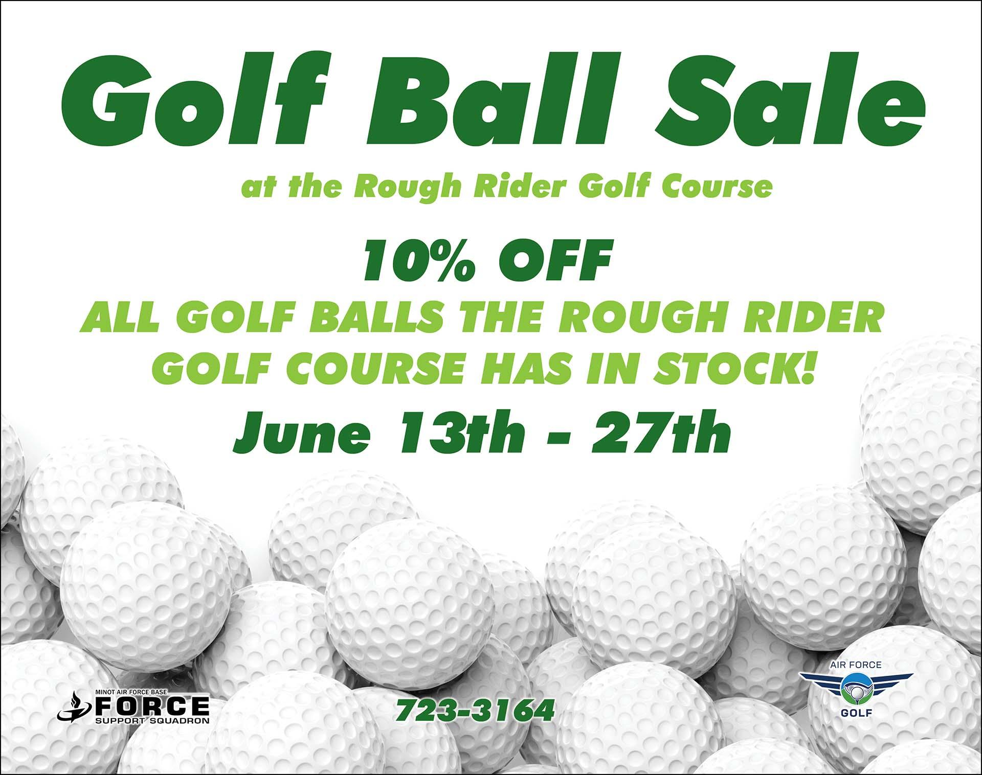 Golf Ball Sale Ends