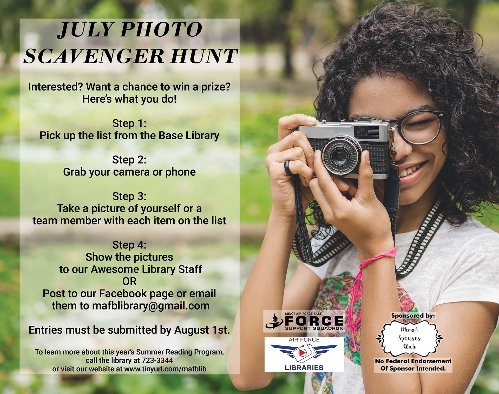 July Photo Scavenger Hunt Begins