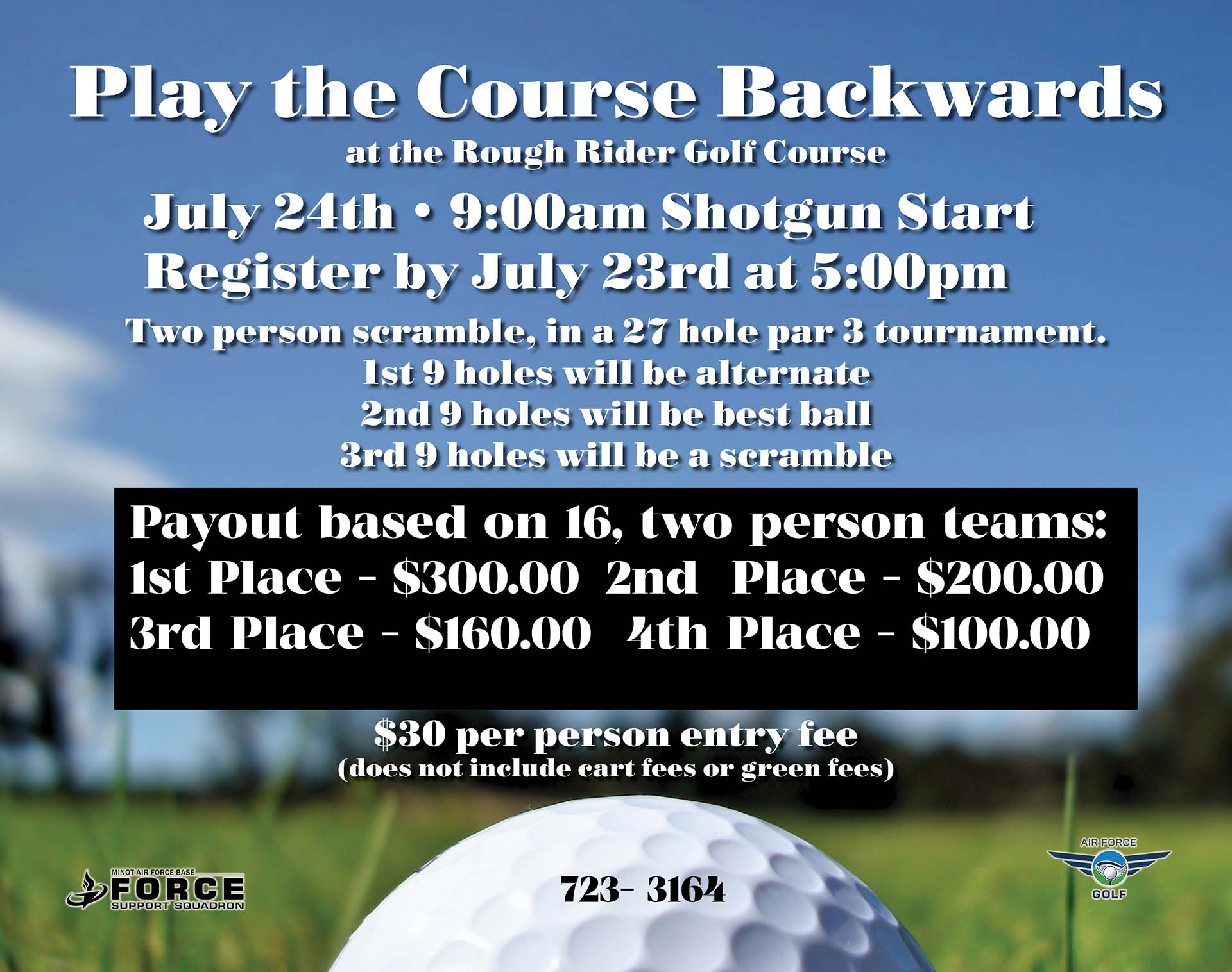 Registration Ends: Play the Course Backwards