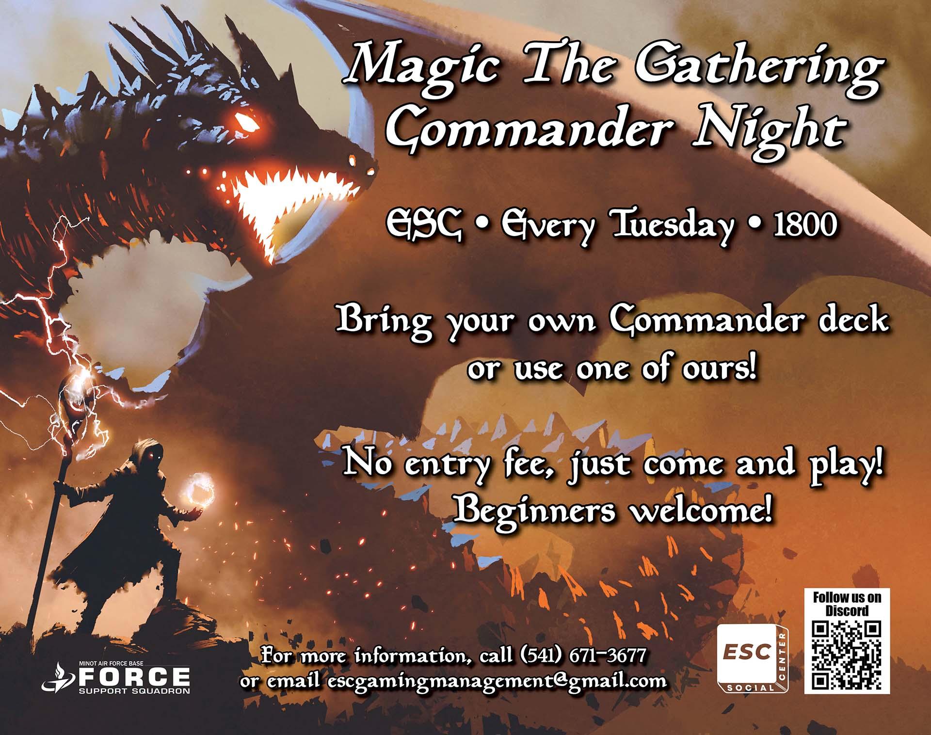 ESC - Magic the Gathering Commander Night - Tuesdays 2021
