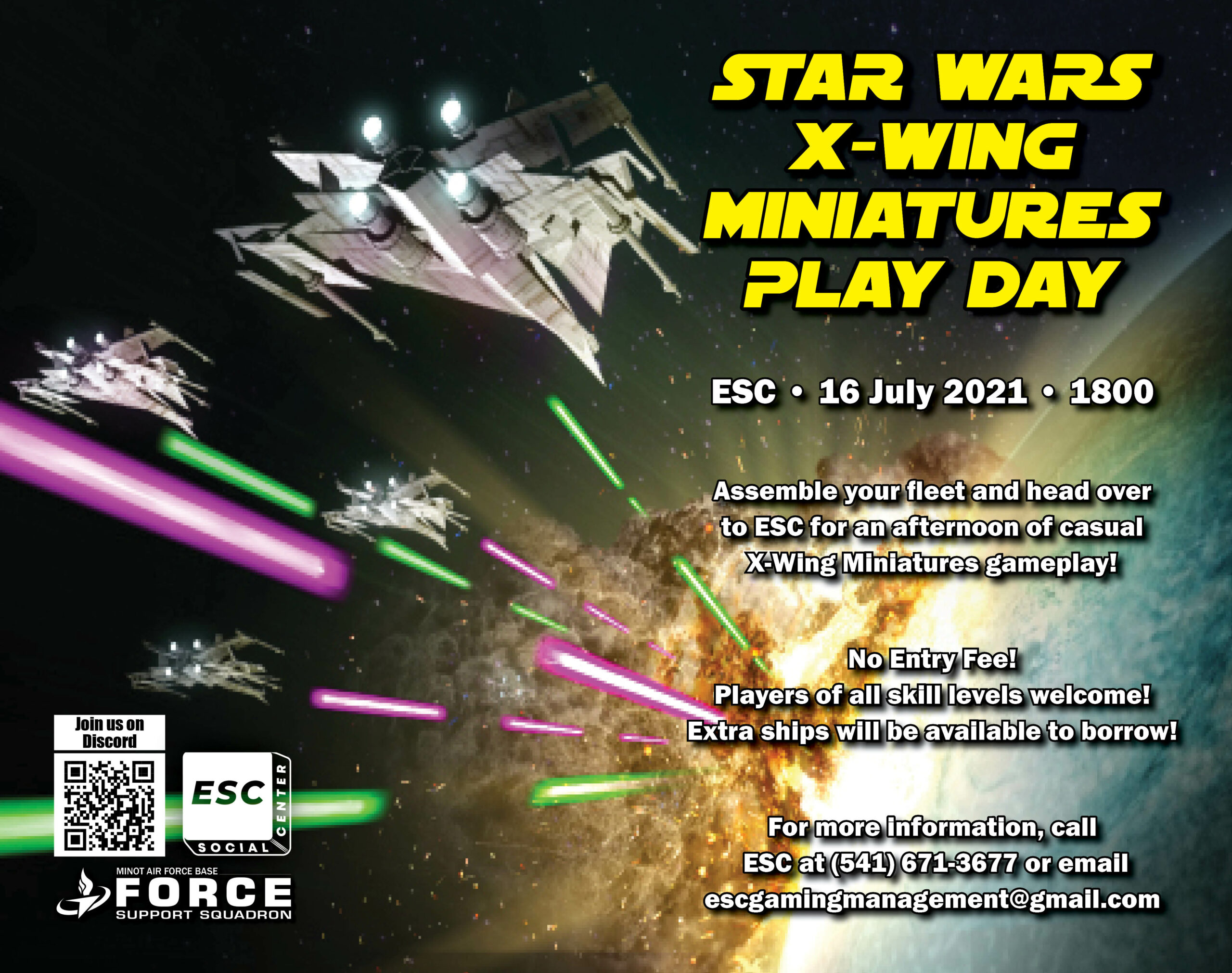 Star Wars X-Wing Miniatures Play Day