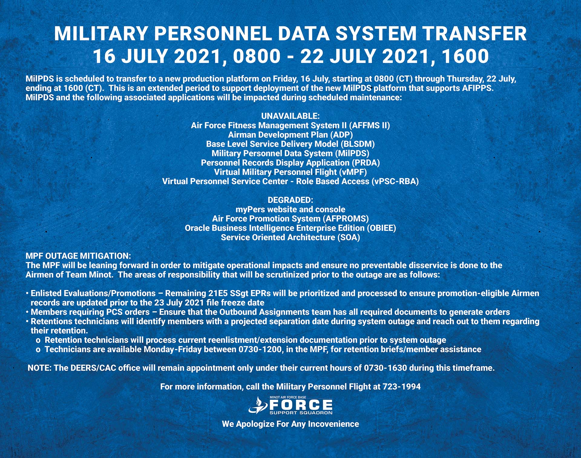 07.16-07.22 MIlitary Personnel Data System Tranfer
