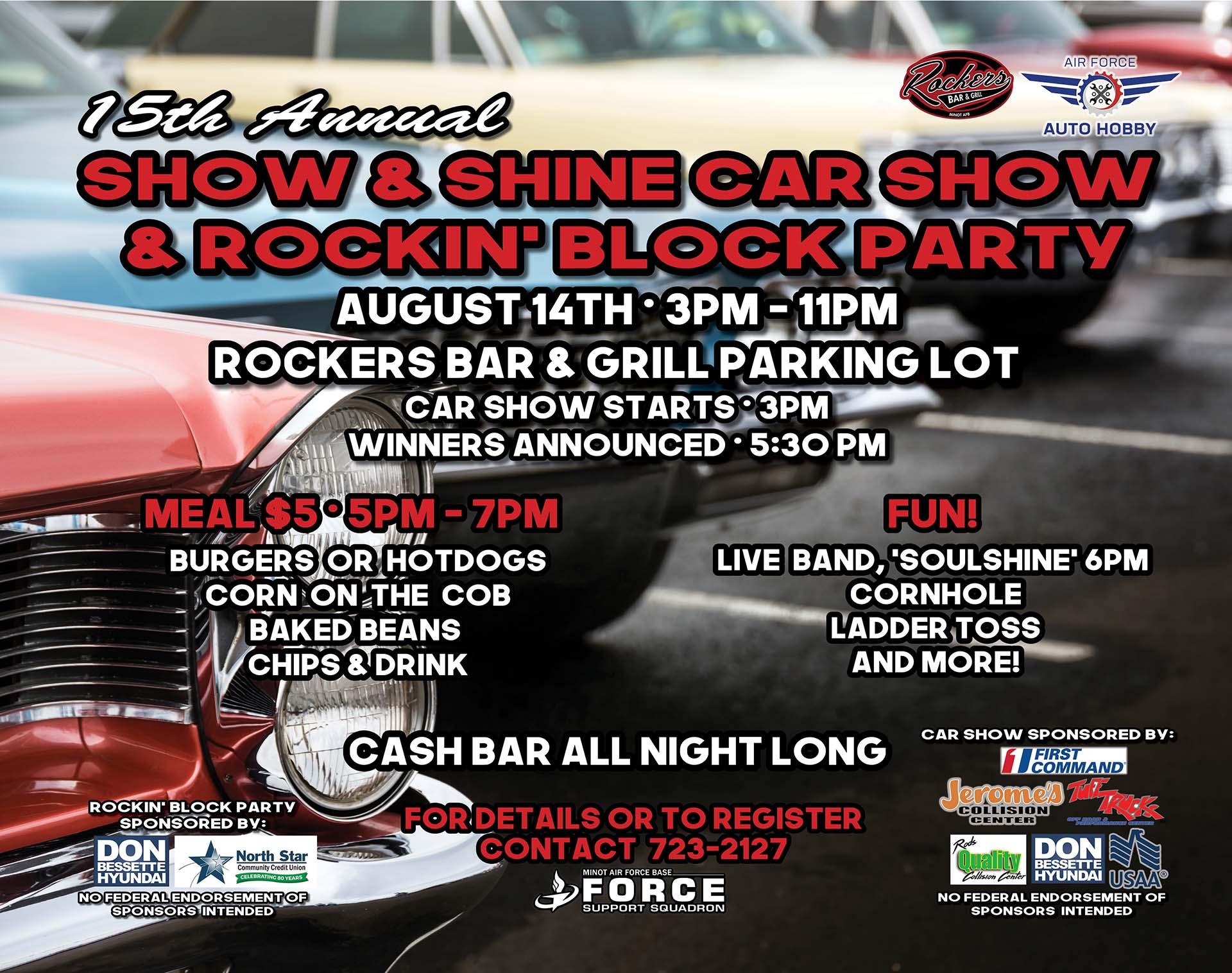 Registration Ends: Show & Shine Car Show