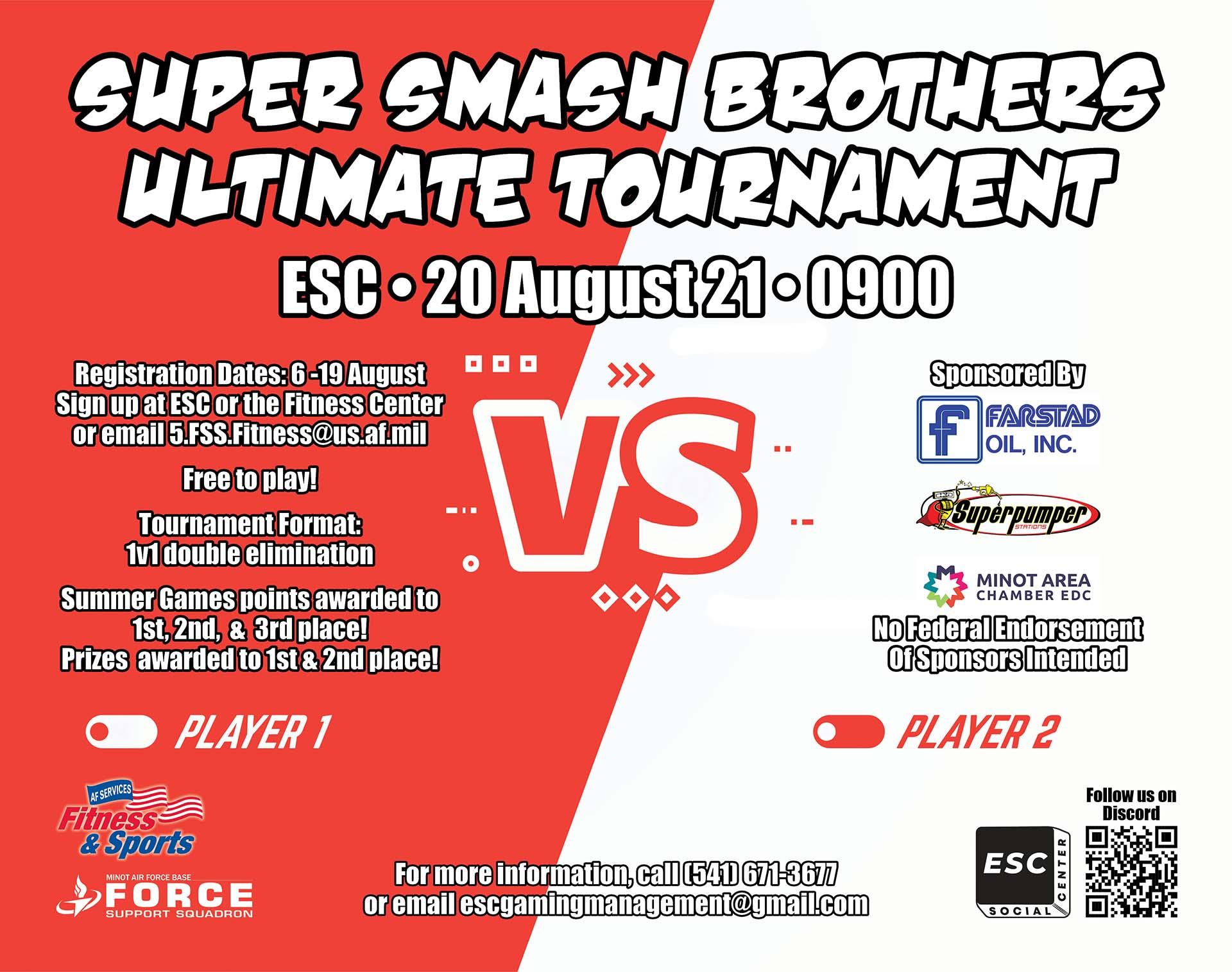 08.20 Super Smash Brothers Ultimate Tournament