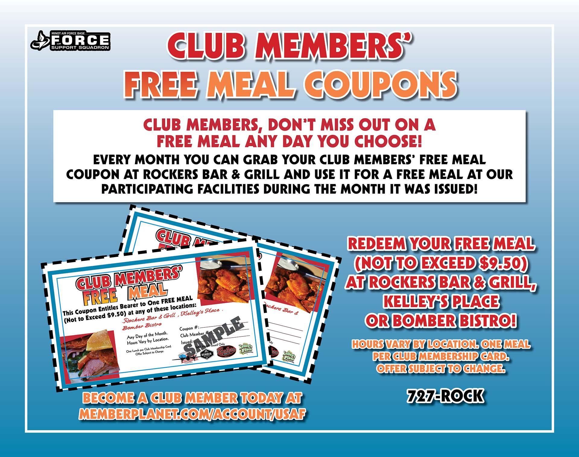 Club Member Coupons Poster - June 20