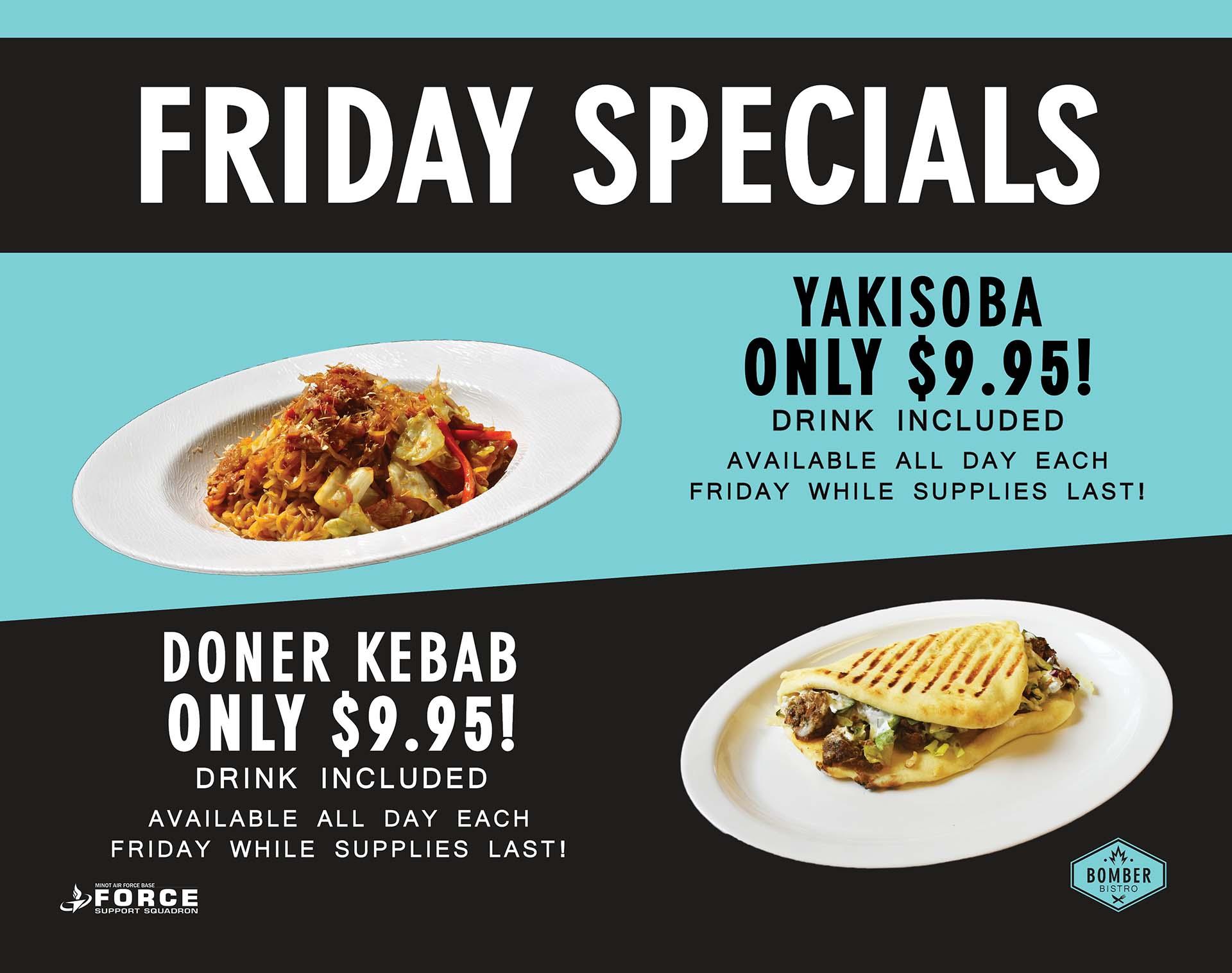 Bomber Bistro - Fridays Specials - July 21