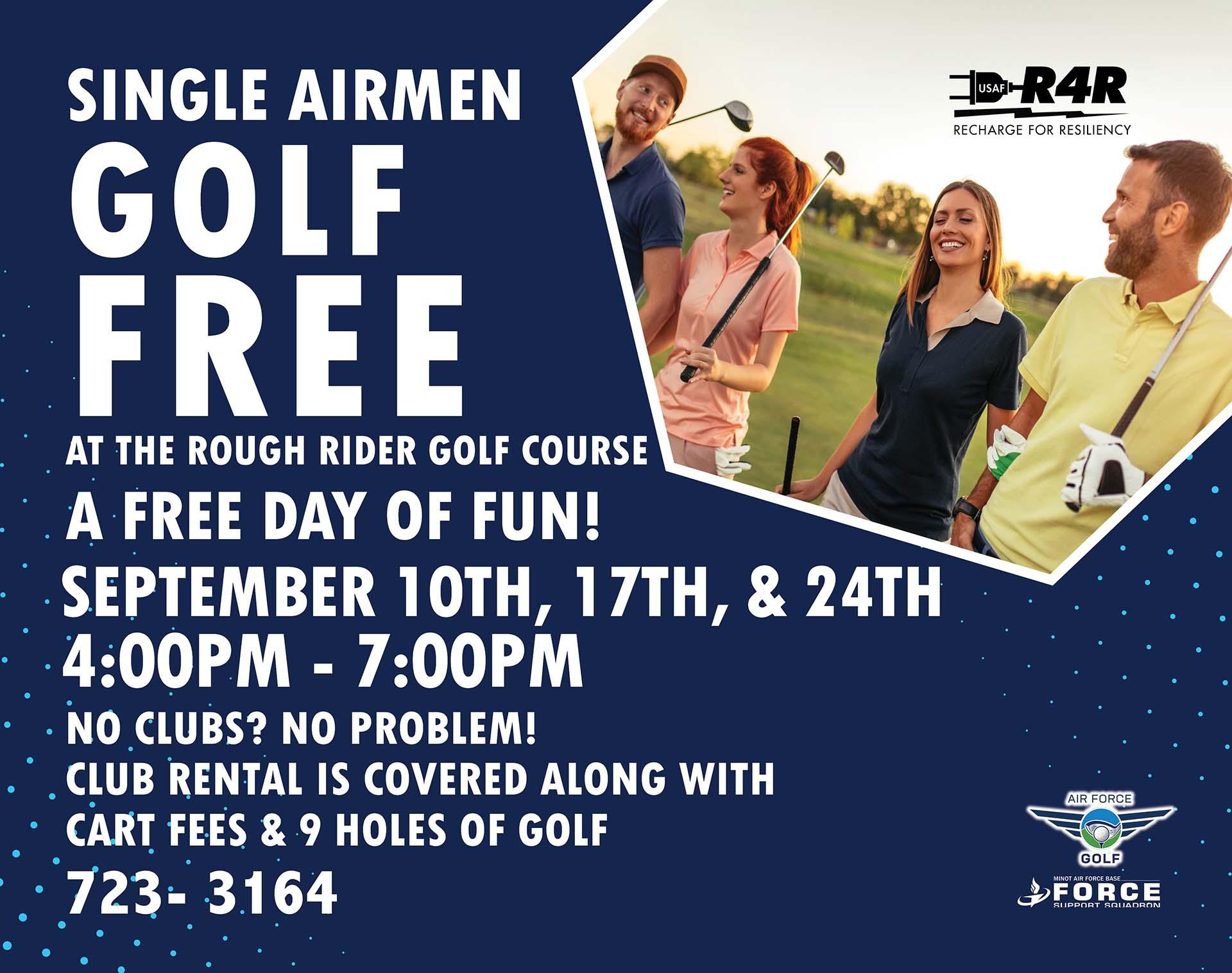 09.10 - 09.24 Single Airmen Golf Free