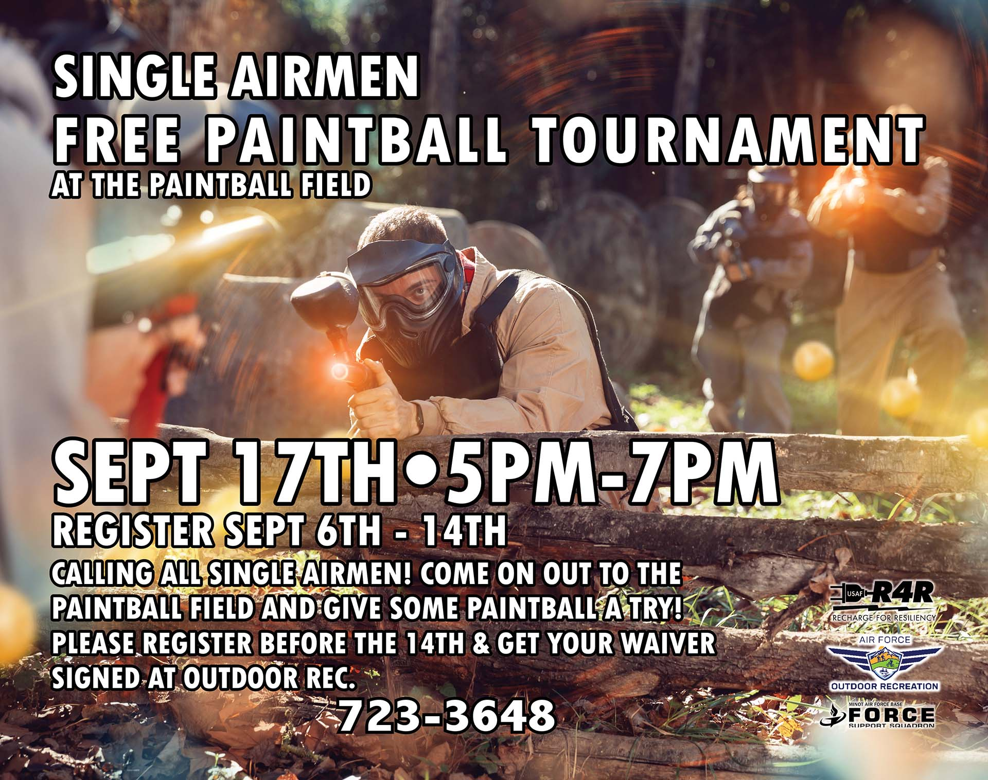 Single Airman Free Paintball Tournament