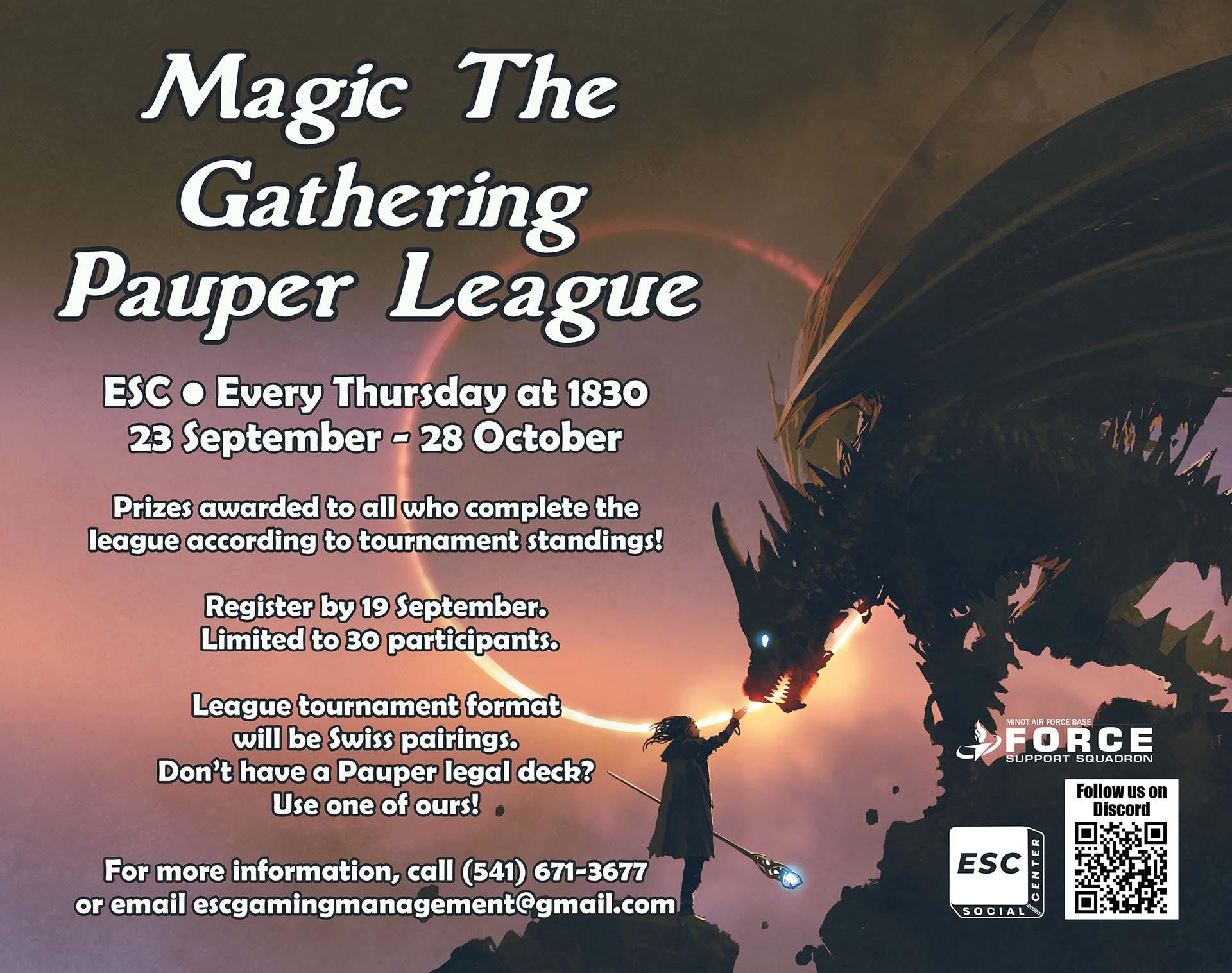 Magic The  Gathering  Pauper League