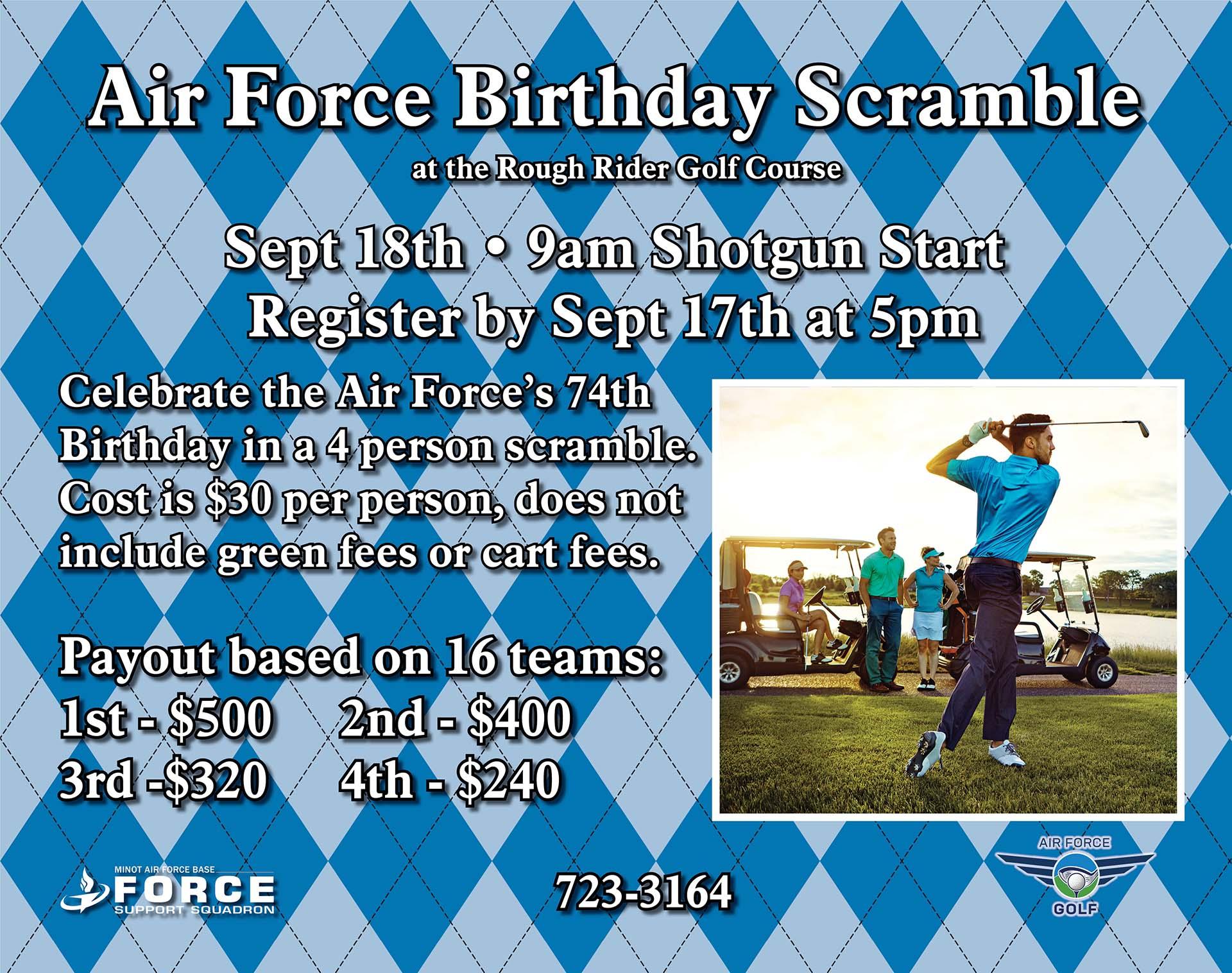 Air Force Birthday Scramble