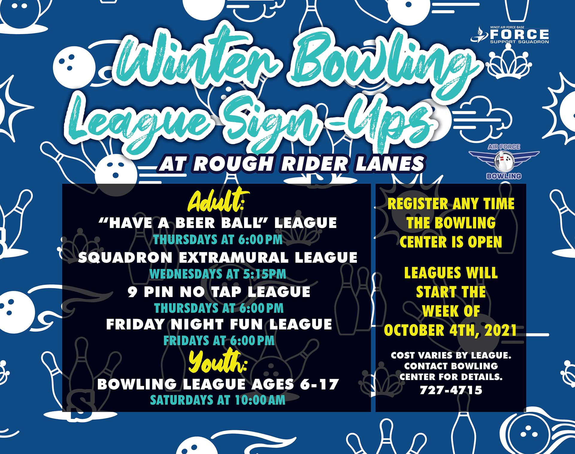 09.01-03.31 WInter Bowling Leagues