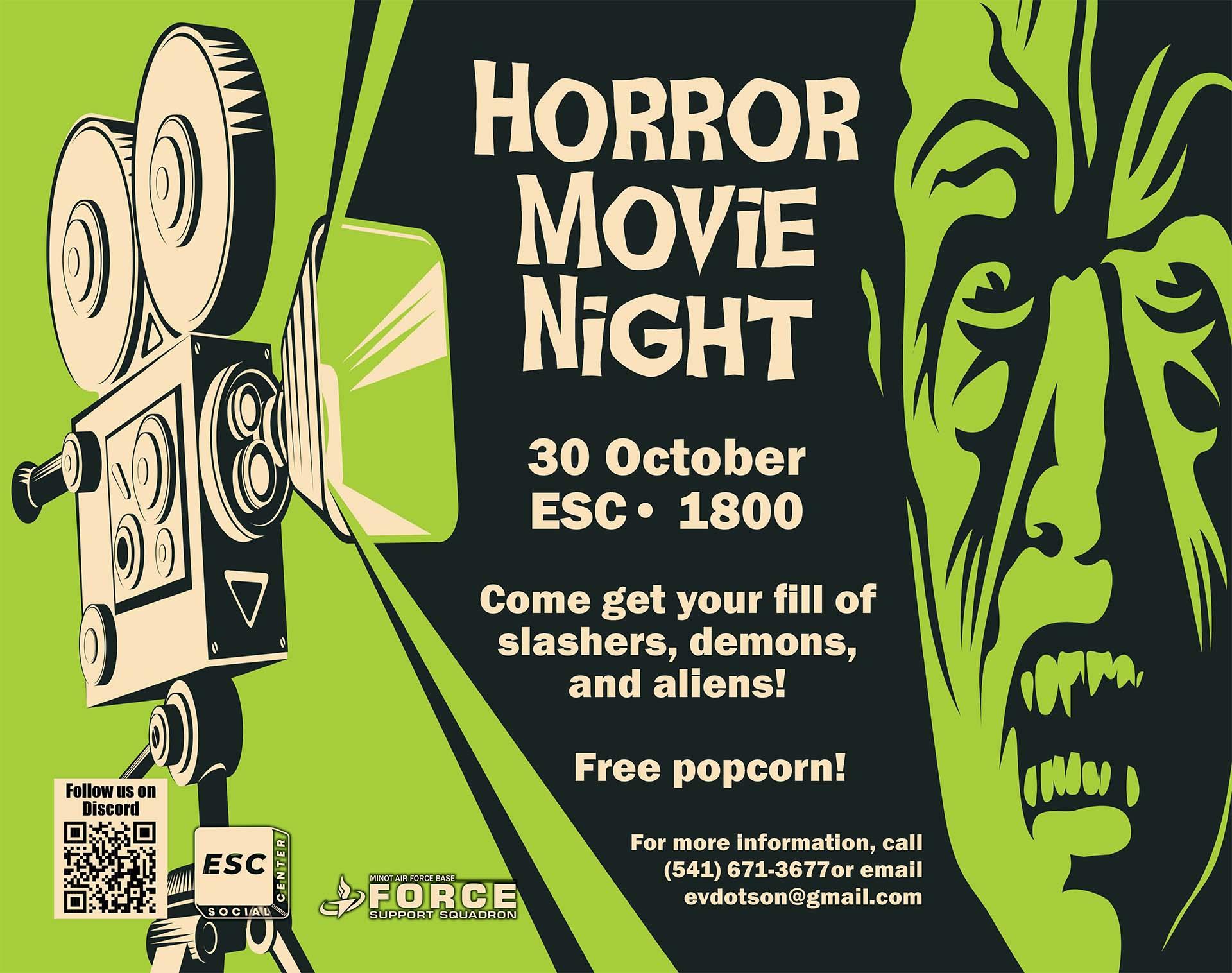 10.30 Horror Movie Night