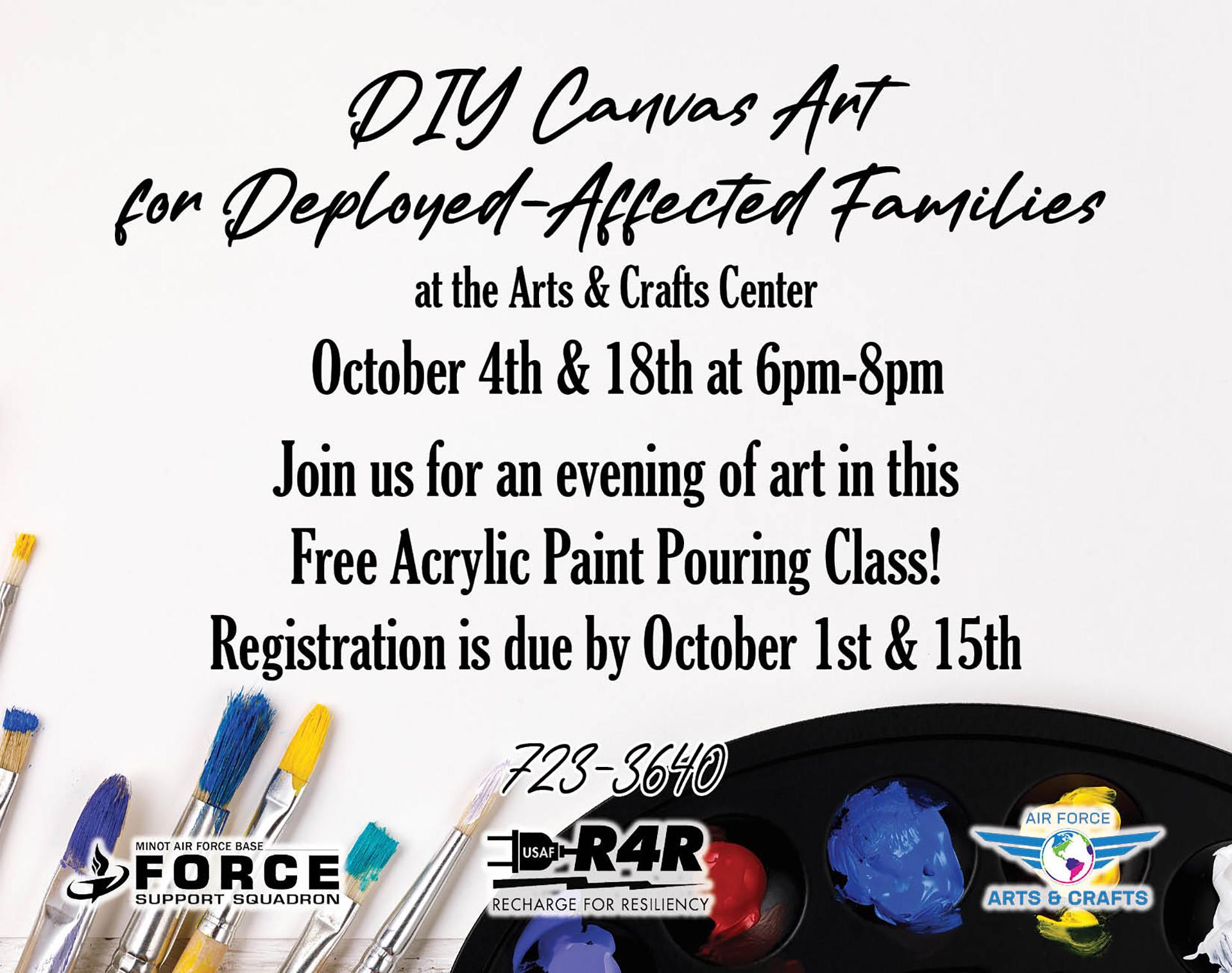 Registration Ends: DIY Canvas Art Class
