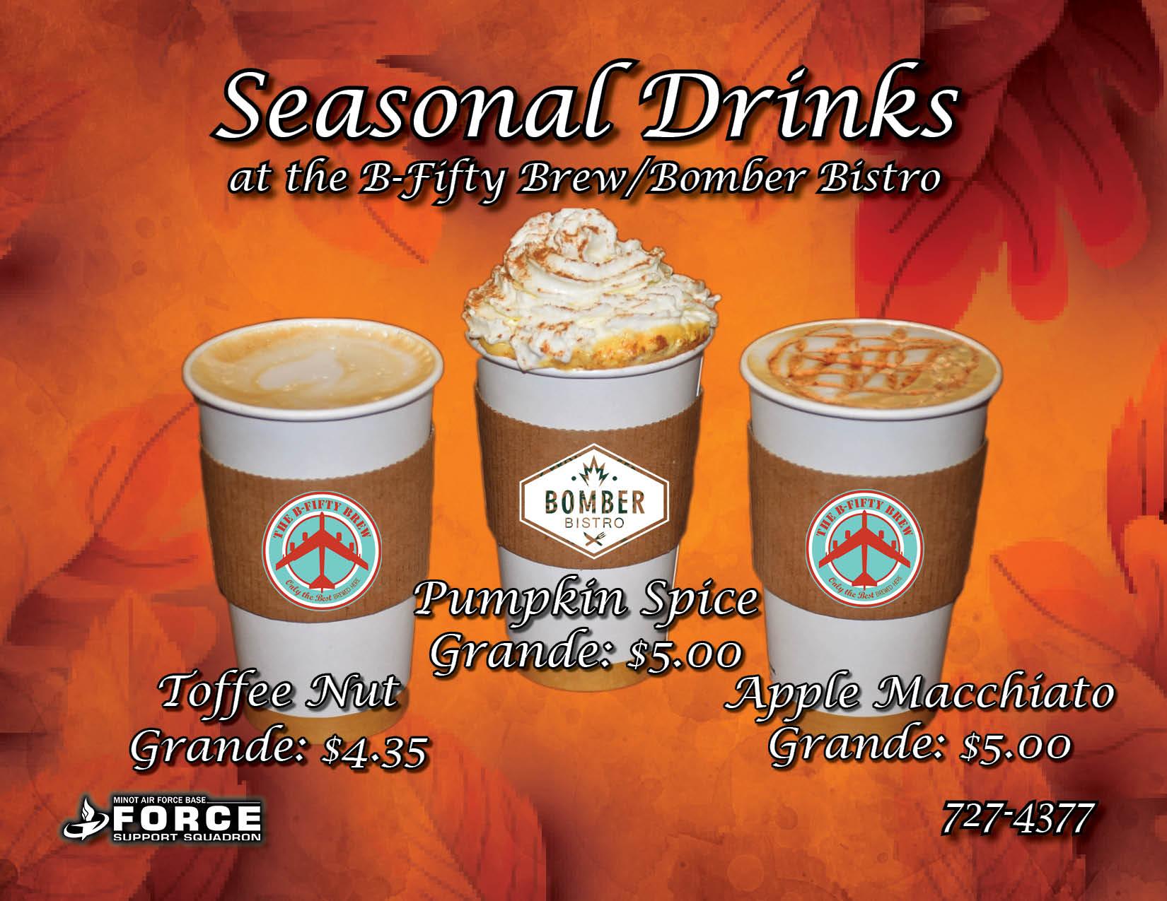 Seasonal Drinks- Sept 2021