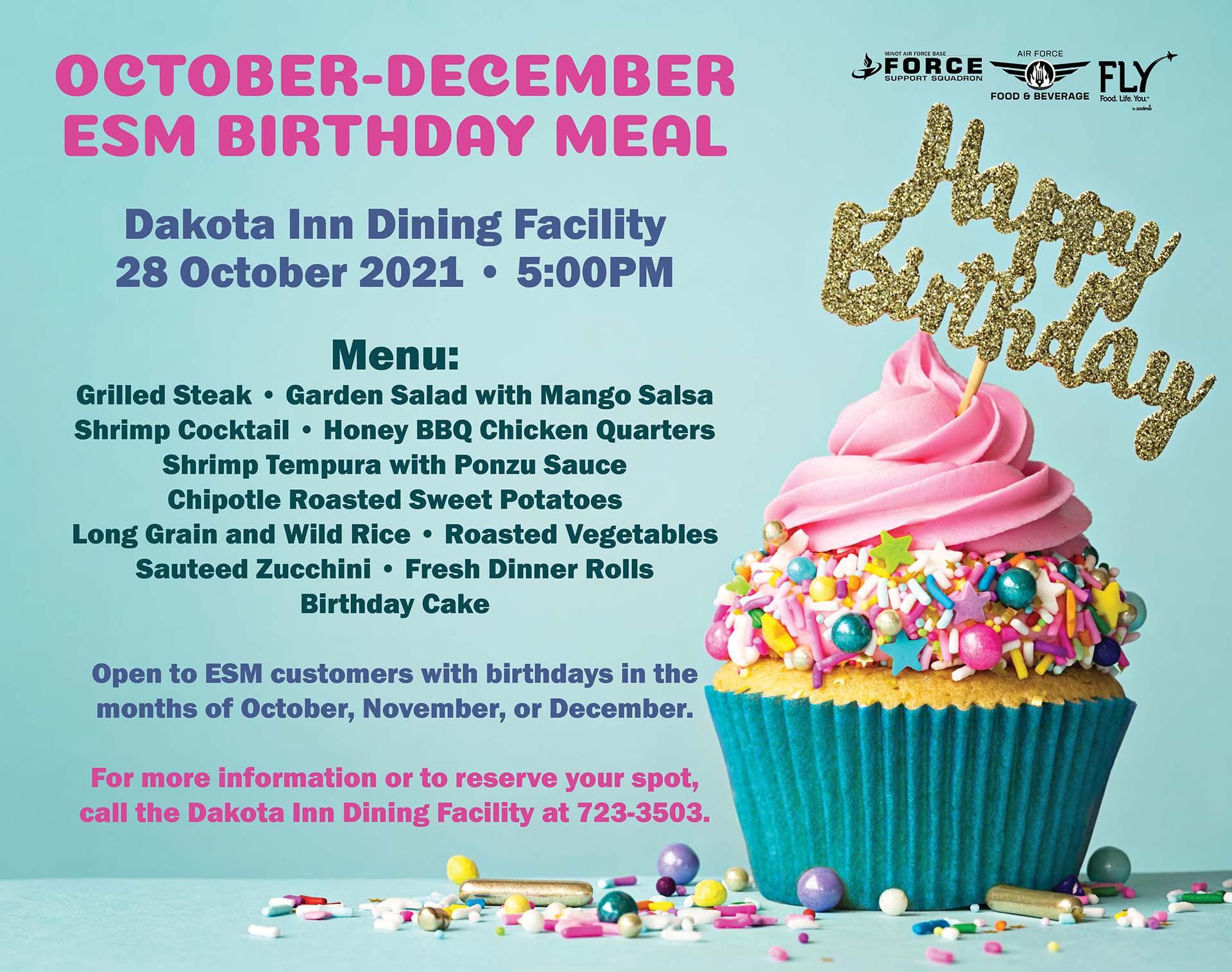 10.28 October-December ESM Birthday Meal