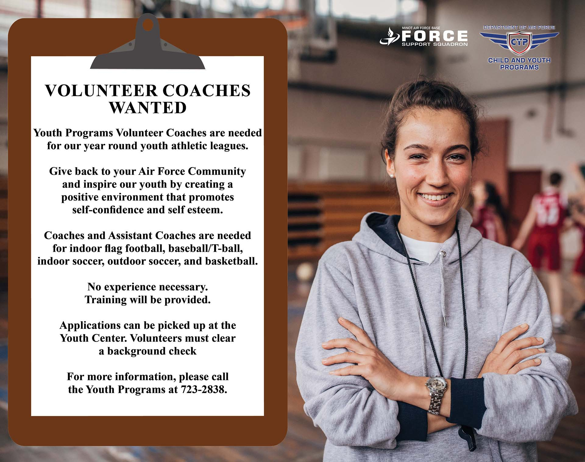 Youth Center - Youth Programs Volunteer Coaches