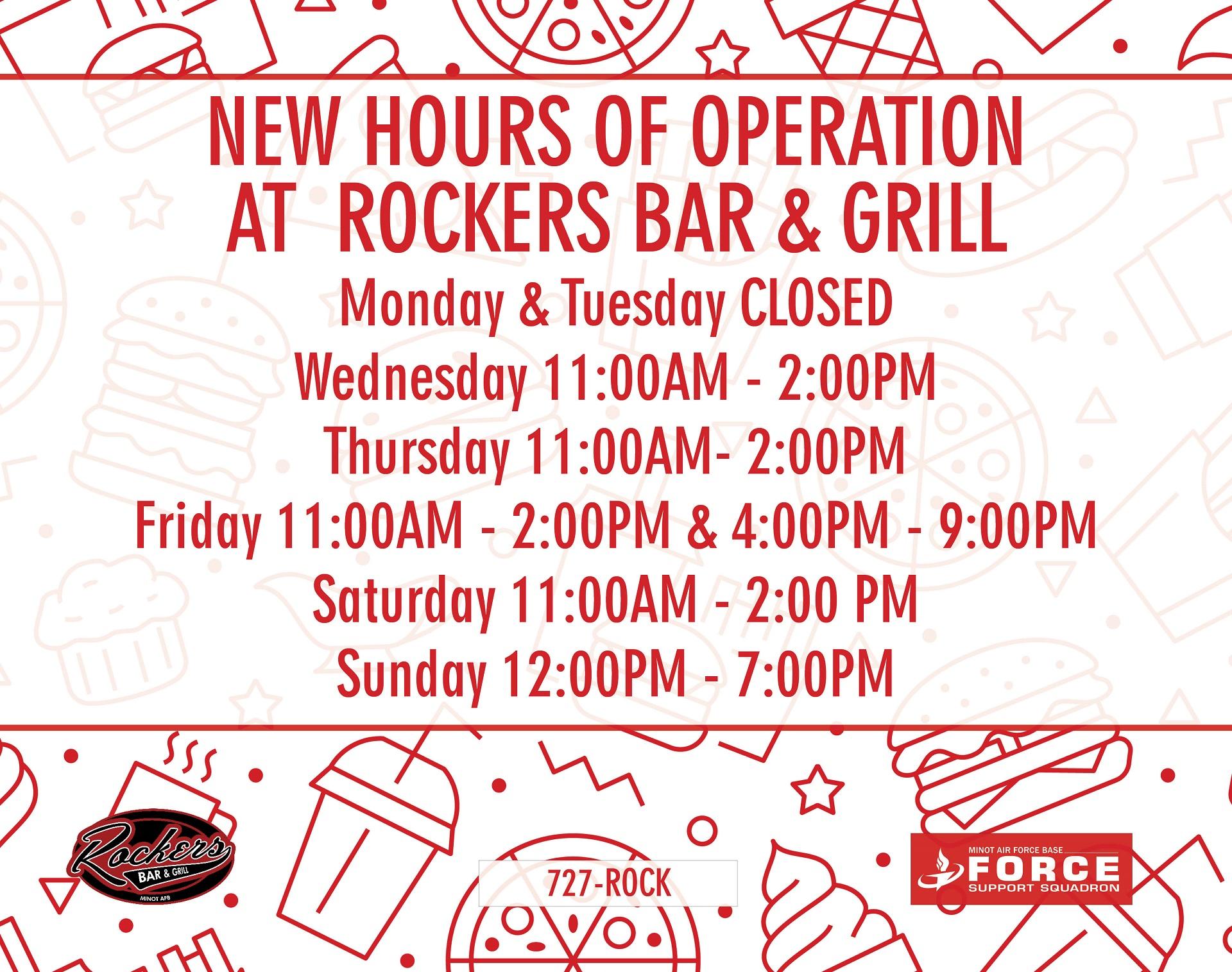 New Rockers Hours